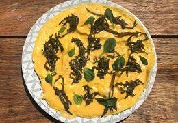 Omelette à la salicorne et à la mertensia