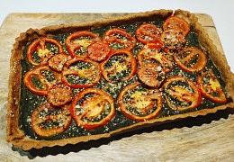 Tarte à la tomate à la pulpe de salicorne